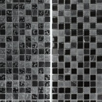 Mosaic Tiles Glass Marble Mix Zambia Black