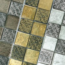 Mosaic Tiles Friesia Glass Natural Stone Resin Mix