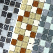 Natural Stone Glass Mosaic Tiles Turhal Self Adhesive