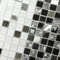 Mosaic Tiles Glass Stainless Steel Amasya Self Adhesive