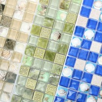 Glass Mosaic Natural Stone Tiles Tatvan Shell
