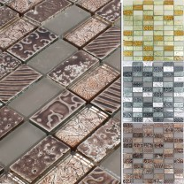 Mosaic Tiles Glass Natural Stone Piroshka
