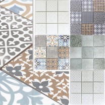 Mosaic Tiles Ceramic Cement Optic