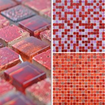 Glass Mosaic Natural Stone Tiles Cleopatra