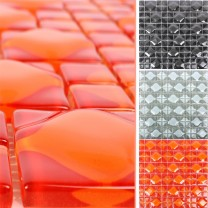 Glass Mosaic Tiles Nokta 3D