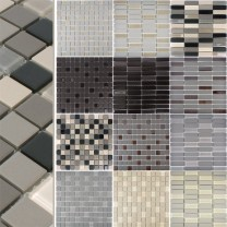 Ceramic Glass Mosaic Tiles Unglazed Garden