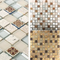Glass Mosaic Natural Stone Tiles Kobold