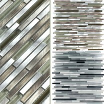 Glass Metal Mosaic Tiles Freeway Sticks