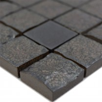 Ceramic Mosaic Tiles Veronica 3D Black Mat
