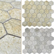 Ceramic Mosaic Tiles Elmshorn Hexagon Stone Optic