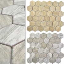Ceramic Mosaic Duponti Hexagon Wood Optic