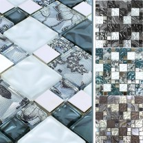 Glas Metall Stainless Steel Mosaic Tiles Zadar