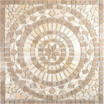 Natural Stone Rosone Salvo Beige Brown 61x61cm