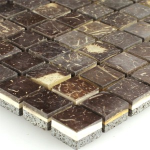 Mosaic Tiles Kokosnuss Toffee 15x15x8mm