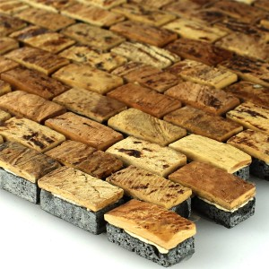 Mosaic Tiles Kokosnuss Natur Walnut 10x20x8mm