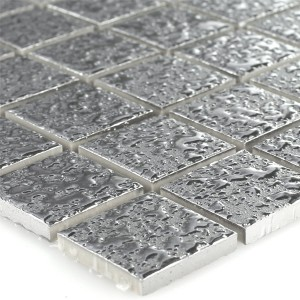 Mosaic Tiles Ceramic Sherbrooke Silver Beaten