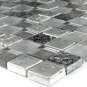 Mosaic Tiles Glass Limestone Marble Miami White