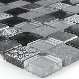 Mosaic Tiles Glass Limestone Marble Boston Grey