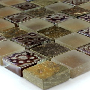 Mosaic Tiles Glass Limestone Marble Phoenix Brown