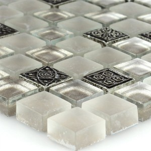 Mosaic Tiles Glass Natural Stone Ornament Champagne