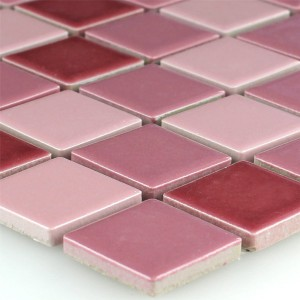 Mosaic Tiles Ceramic Old Pink