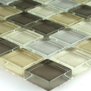 Mosaic Tiles Glass Light Green 23x23x8mm