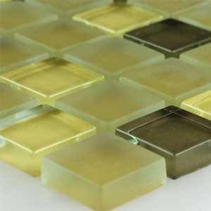 Mosaic Tiles Glass Yellow 23x23x8mm
