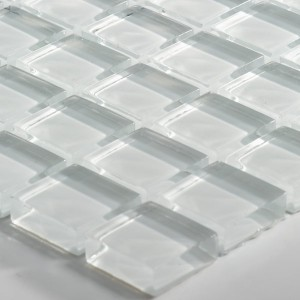 Mosaic Tiles Glass Uni 23x23x8mm White