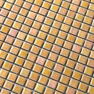 Mosaic Tiles Ceramic Yellow Rose 16x16x6mm