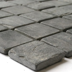 Mosaic Tiles Slate 46,5x46,5x10mm Black