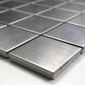 Mosaic Tiles Stainless Steel Silver 48x48x8mm