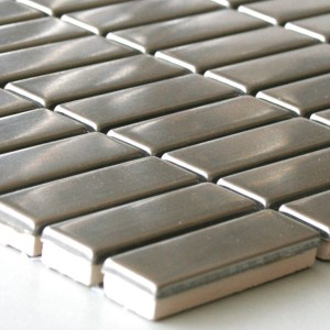 Mosaic Tiles Stainless Steel Silver 15x48x8mm
