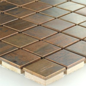 Mosaic Tiles Copper Metal Design 23x23x8mm