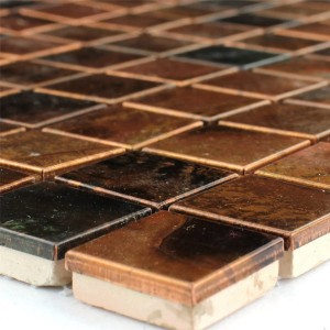 Mosaic Tiles Metal Copper 23x23x8mm