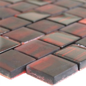 SAMPLE Mosaic Tiles Glass Lava Red