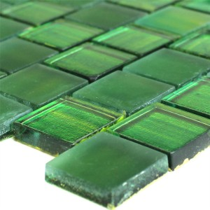 Mosaic Tiles Glass Striped Green
