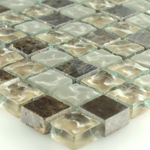 Mosaic Tiles Glass Marble Quebeck Brown