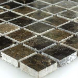 Mosaic Tiles Marble Brown Polished 23x23x7,5mm