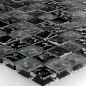 Mosaic Tiles Glass Marble Zambia Fluted 15x15x8mm