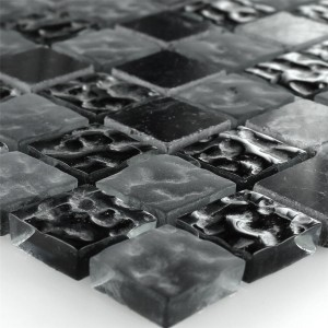 Mosaic Tiles Glass Marble Zambia Fluted 23x23x8mm