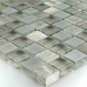 Mosaic Tiles Glass Marble Burlywood 15x15x8mm