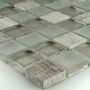 Mosaic Tiles Glass Marble Burlywood 23x23x8mm