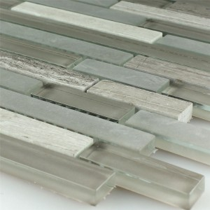 Mosaic Tiles Glass Marble Burlywood Sticks