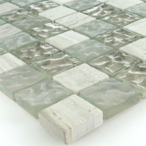 Mosaic Tiles Glass Marble Burlywood 23x23x8mm Drummed