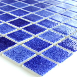 Glass Swimming Pool Mosaic 25x25x4mm Dark Blue Mix