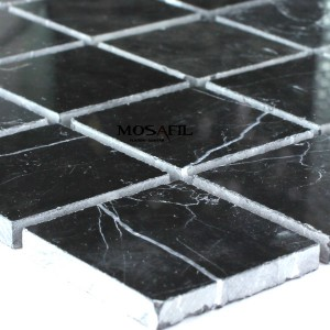 Mosaic Tiles Marble 48x48x8mm Black Polished