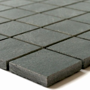 Mosaic Tiles Quartzite Optic Dark Grey 50x50mm