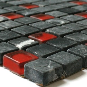 glass marble stone mosaic tiles red mix g113 m. Black Bedroom Furniture Sets. Home Design Ideas