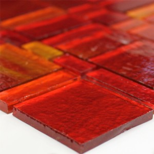 Glass Tiles Trend-Vi Mosaic Liberty Red