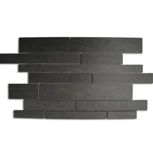 Mosaic Tiles Quartzite Optic Dark Grey